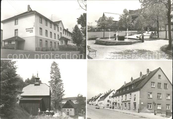 Johanngeorgenstadt FH VEB Werna Platz des Bergmanns Histor Gloeckl Eibenstocker Str Kat. Johanngeorgenstadt