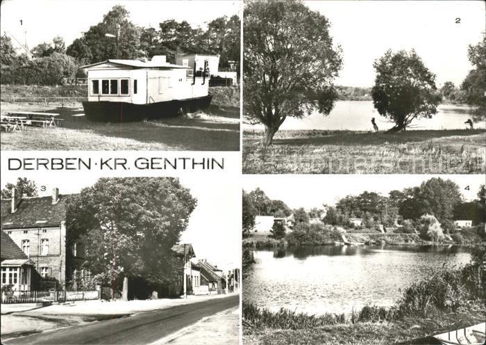 Derben Gaststaette Anglerheim Alte Elbe Hauptstr Bungalowsiedlung Alte Elbe Kat. Elbe Parey