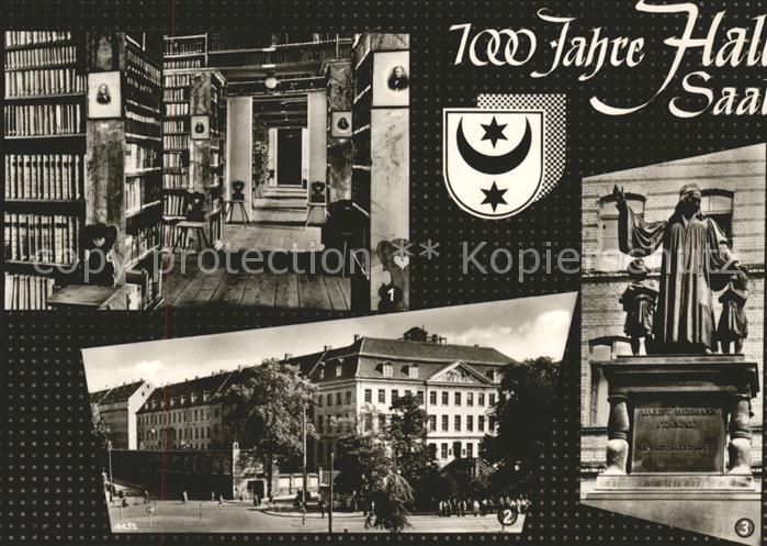 Halle Saale Hauptbibliothek Franckesche Stiftungen Francke Denkmal Kat. Halle