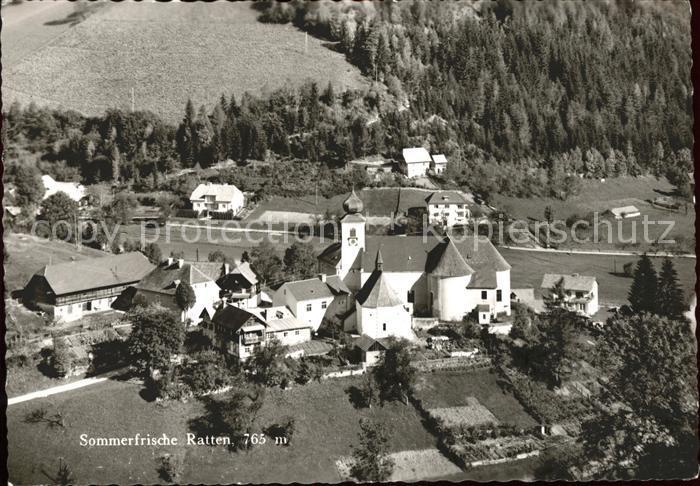 Ratten Ortsblick Kirche Kat. Ratten