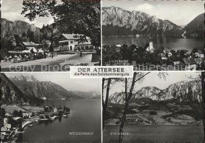 Attersee Burgau Unterach Weissenbach Steinbach Kat. Attersee