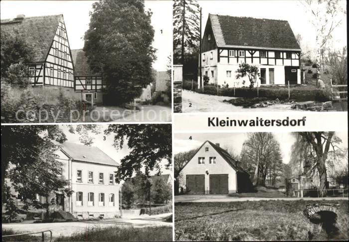 Kleinwaltersdorf Freiberg Muehle Denkmalschutz aeltestes Haus Oberschule Feuerwehrdepot Kat. Freiberg