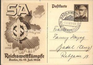 Berlin Reichswettkaempfe 1938 Kat. Berlin