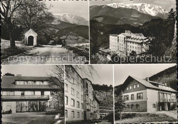 Puchberg Schneeberg Kapelle Urlauberhaus Strengberg Kultur und Sportverein der Wiener Verkehrsbetriebe Kat. Puchberg am Schneeberg