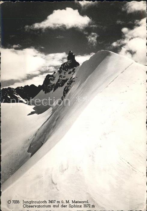 Jungfraujoch mit Meteorolog Observatorium Sphinx Kat. Jungfrau