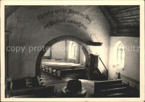 Lauenen Kirche Inneres Kat. Lauenen