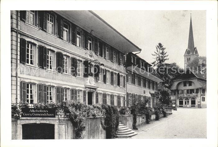 Herzogenbuchsee Gast und Gemeindehaus Hotel Kreuz Kirchgasse Kat. Herzogenbuchsee