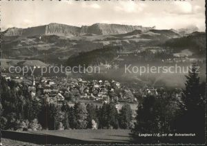 Langnau Emmental Panorama mit Schrattenfluh Kat. Langnau Emmental