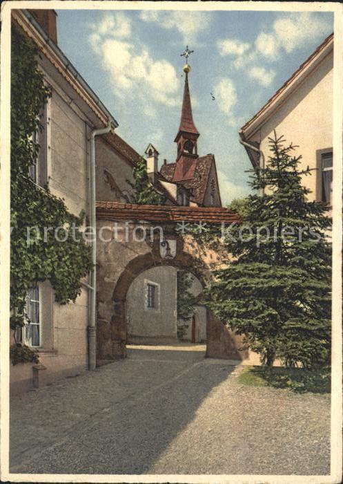 St Chrischona Aufgang zur Kirche Kat. St. Chrischona