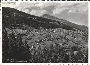 Malix Panorama mit Calanda Buendner Alpen Kat. Malix