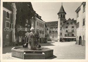 Maienfeld Marktplatz Brunnen Rathaus Kat. Maienfeld
