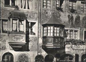 Stein Rhein Gasthof zur Sonne Erker Historisches Gebaeude Fassadenmalerei Kat. Stein Rhein
