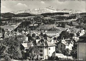 Flawil Ortsansicht mit Blick zum Saentis Appenzeller Alpen Kat. Flawil