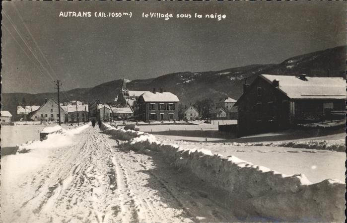 Autrans Village sous la neige Kat. Autrans