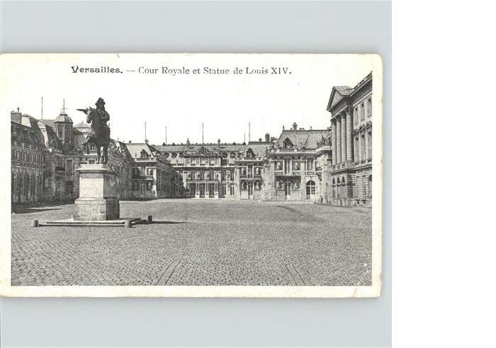 Versailles cour Royale Statue de Louis XIV. Kat. Versailles