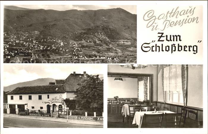 Alsbach Bergstrasse Gasthaus Pension zum Schlossberg / Alsbach-Haehnlein /Darmstadt-Dieburg LKR