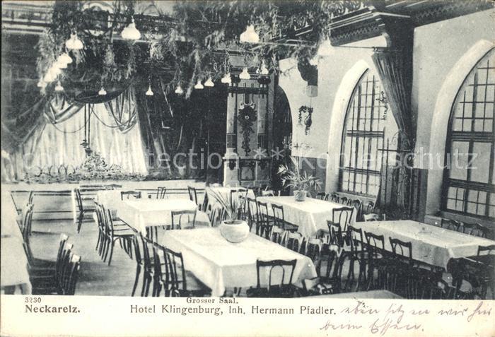 Neckarelz Hotel Klingenburg Grosser Saal Hermann Pfadler / Mosbach /Neckar-Odenwald-Kreis LKR
