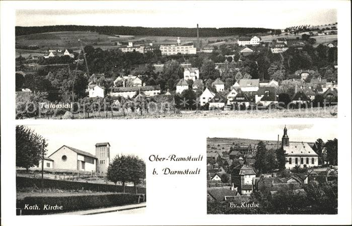 Ober-Ramstadt Kath. Kirche Ev. Kirche / Ober-Ramstadt /Darmstadt-Dieburg LKR