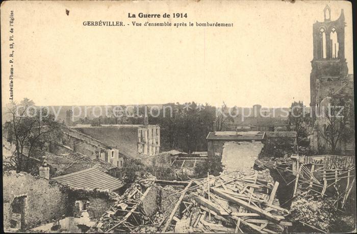 Gerbeviller apres le bombardement Ruines Grande Guerre Truemmer 1. Weltkrieg / Gerbeviller /Arrond. de Luneville