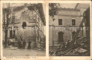 Deutsch-Avricourt Bahnhof Truemmer 1. Weltkrieg / Avricourt /Arrond. de Sarrebourg