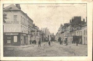 La Fere Aisne Rue de la Republique Entree de la Ville / La Fere /Arrond. de Laon