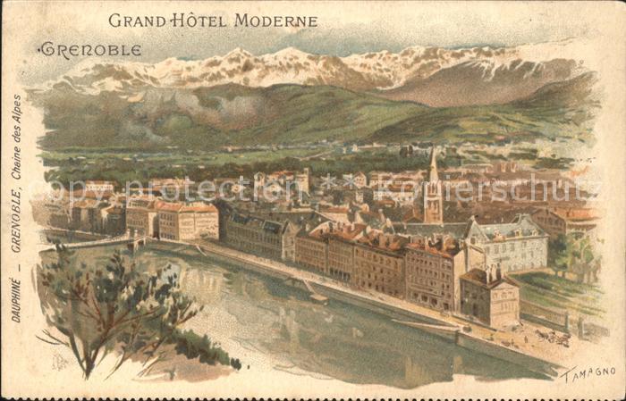 Grenoble Grand Hotel Moderne Chaine des Alpes Kuenstlerkarte / Grenoble /Arrond. de Grenoble