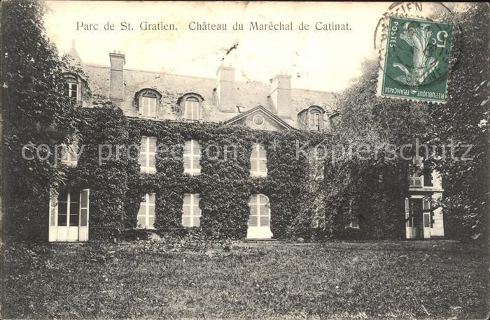 Saint-Gratien Oise Chateau du Marechal de Catinat Parc Stempel auf AK / Saint-Gratien /Arrond. de Sarcelles