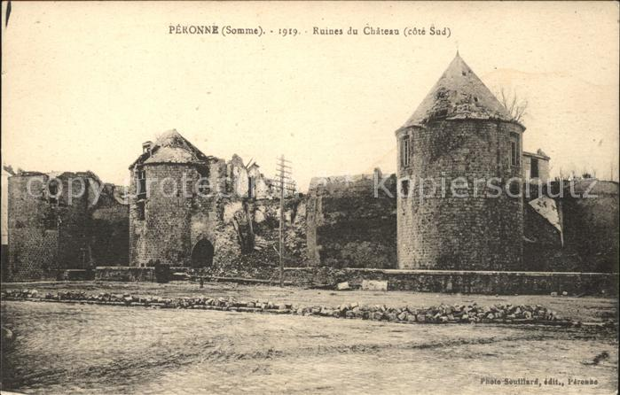 Peronne Somme Ruines du Chateau / Peronne /Arrond. de Peronne