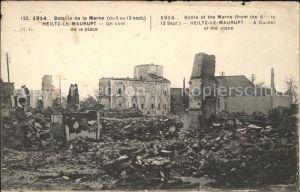 Heiltz-le-Maurupt Bataille de la Marne Grande Guerre Truemmer 1. Weltkrieg / Heiltz-le-Maurupt /Arrond. de Vitry-le-Francois