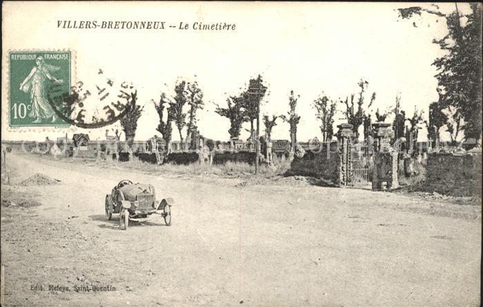 Villers-Bretonneux Le Cimetiere Automobile Stempel auf AK / Villers-Bretonneux /Arrond. d Amiens