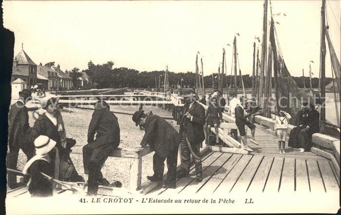 Le Crotoy Estacade au retour de la Peche / Le Crotoy /Arrond. d Abbeville