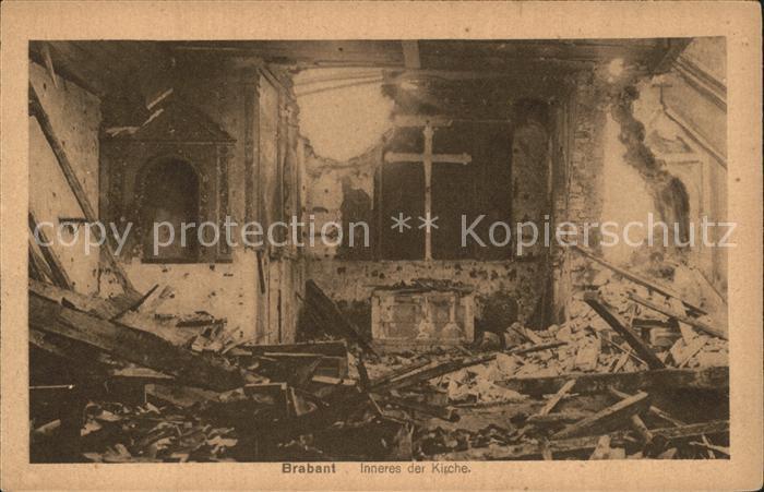 Brabant-sur-Meuse Inneres der Kirche Truemmer 1. Weltkrieg / Brabant-sur-Meuse /Arrond. de Verdun