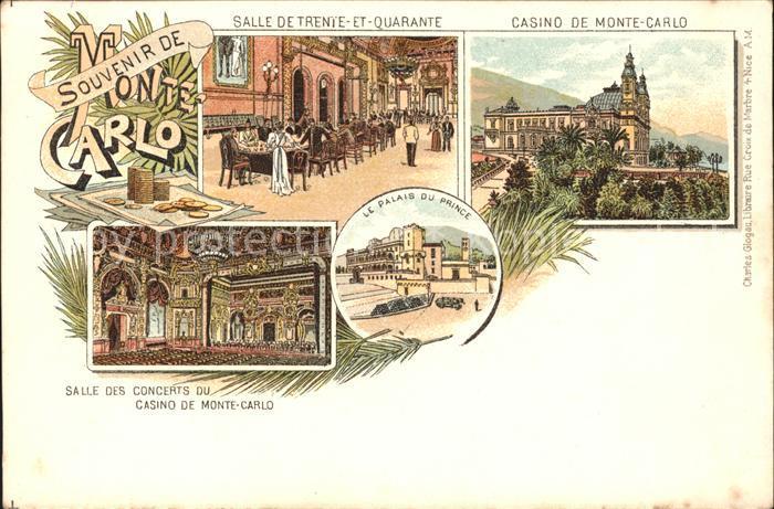 Monte-Carlo Casino Salle de Trente et Quarante Salle des Concerts Palais du Prince / Monte-Carlo /