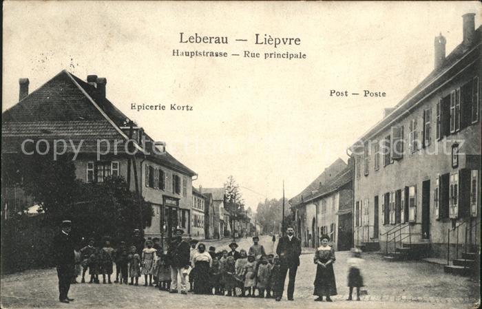 Leberau Hauptstrasse Rue principale Gruppenbild / Liepvre /Arrond. de Ribeauville
