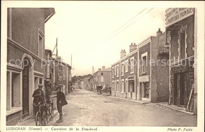 Lusignan Carrefour de la Fon-de-ce / Lusignan /Arrond. de Poitiers