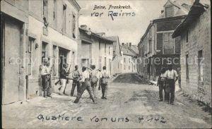 Beine-Nauroy Marne Kompanie Stab 4/142 Soldaten Militaer 1. Weltkrieg / Beine-Nauroy /Arrond. de Reims