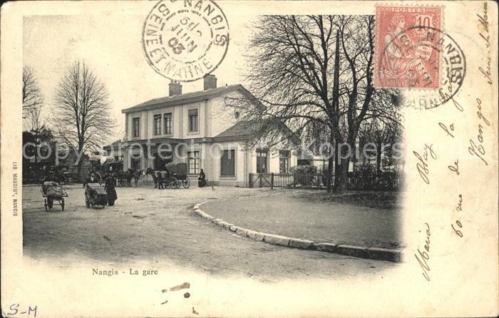 Nangis La Gare Bahnhof Stempel auf AK / Nangis /Arrond. de Provins