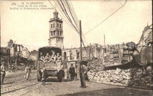 St Quentin Aisne Haut de la rue Isle Beffroi et Prisonniers allemands / Saint-Quentin /Arrond. de Saint-Quentin