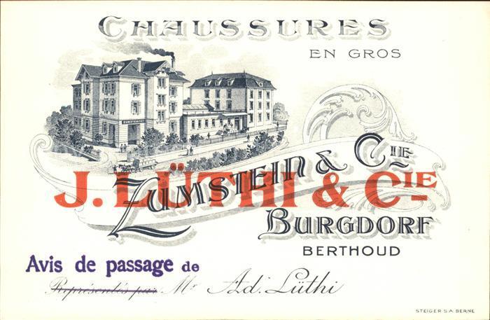 Berthoud Burgdorf Zum Stein Avis de passage / Berthoud /