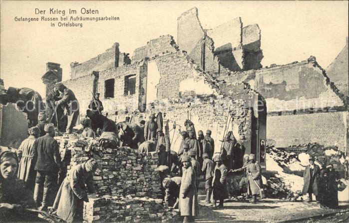 Ortelsburg Ostpreussen Der Krieg im Osten Gefangene Russen bei Aufraeumungsarbeiten / Szczytno /