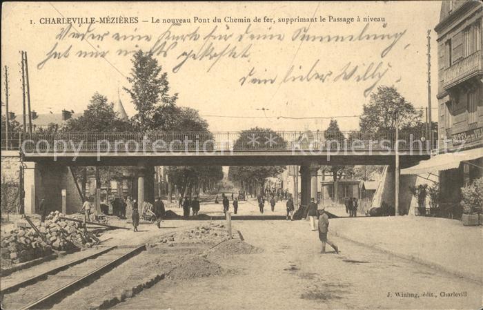 Charleville-Mezieres Le nouveau Pont du Chemin de fer Supprimant le Passage a niveau / Charleville-Mezieres /Arrond. de Charleville-Mezieres