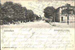 31735501 Schivelbein Pommern Bahnhofstrasse und Park Swidwin Schivelbein_Pommern