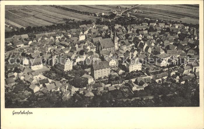 Gerolzhofen Fliegeraufnahme / Gerolzhofen /Schweinfurt LKR