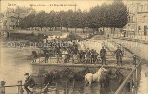 Sedan Ardennes Scene militaire Baignade des Chevaux / Sedan /Arrond. de Sedan