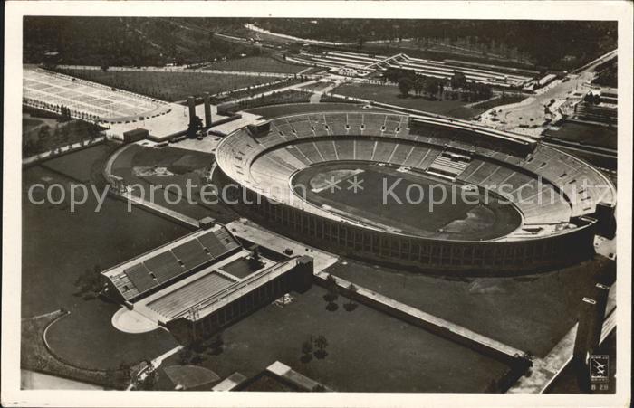 Berlin Olympiastadion Reichssportfeld Fliegeraufnahme / Berlin /Berlin Stadtkreis