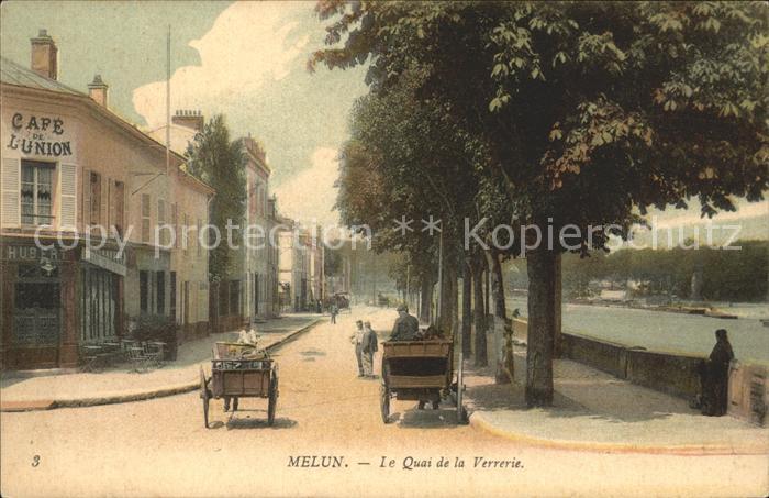 Melun Seine et Marne Quai de la Verrerie Cafe / Melun /Arrond. de Melun