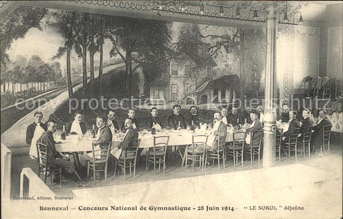 Bonneval d Eure-et-Loir Concours National de Gymnastique 1914 Le Sokol / Bonneval /Arrond. de Chateaudun