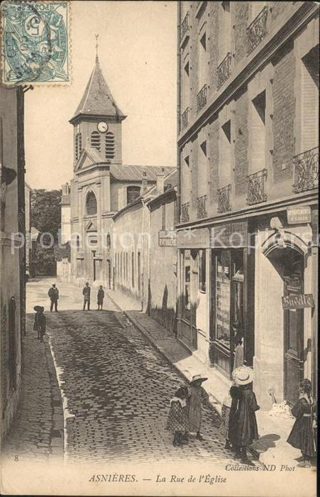 Asnieres Eure Rue de l'Eglise / Asnieres /Arrond. de Bernay