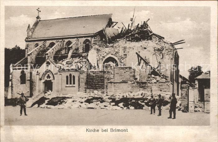Brimont zerstoerte Kirche 1. Weltkrieg / Brimont /Arrond. de Reims