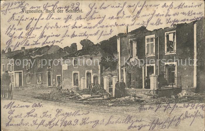 Vigneulles nach der Schlacht Ruinen 1. Weltkrieg / Vigneulles /Arrond. de Luneville